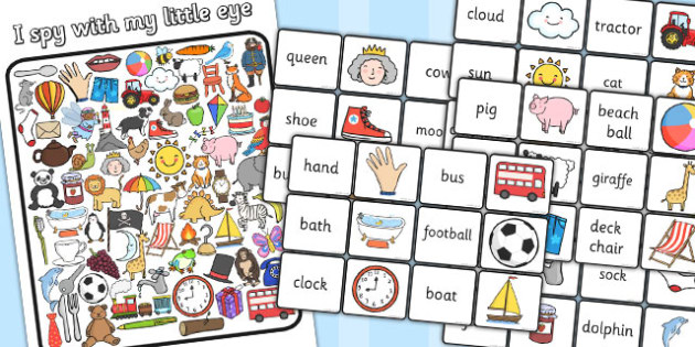 I Spy With My Little Eye Picture and Word Matching Activity