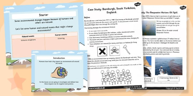 Dangerous Environments and Case Studies Powerpoint Task Setter Activity Pack