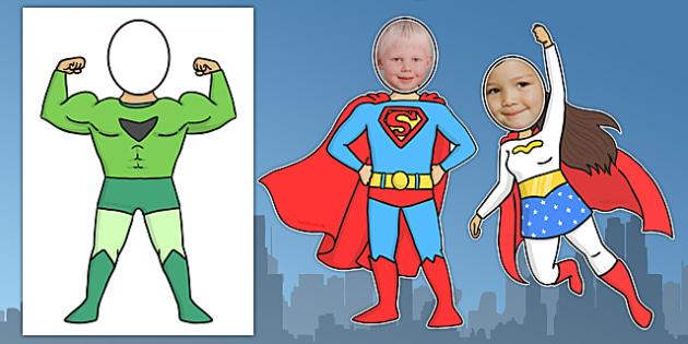 Face Editable Superheroes - Superhero, superheroes, editable, faces, hero, banner, display, A4 display, batman, superman, spiderman, special, power, powers, catwoman, liono, he-man