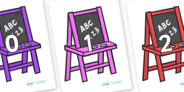 Numbers 0-100 on Chalk Boards - 0-100, foundation stage numeracy, Number recognition, Number flashcards, counting, number frieze, Display numbers, number posters
