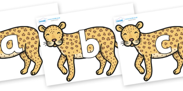 Phoneme Set on Leopards - Phoneme set, phonemes, phoneme, Letters and Sounds, DfES, display, Phase 1, Phase 2, Phase 3, Phase 5, Foundation, Literacy