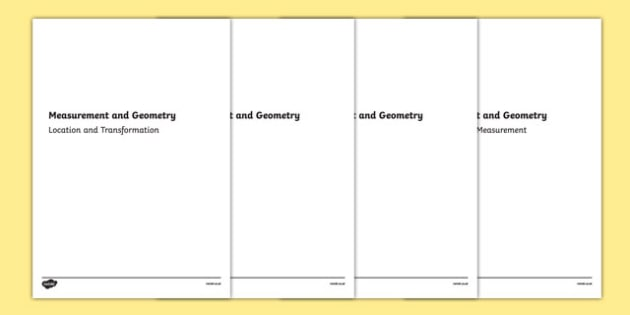 Year One Measurement and Geometry Assessment Pack-Australia