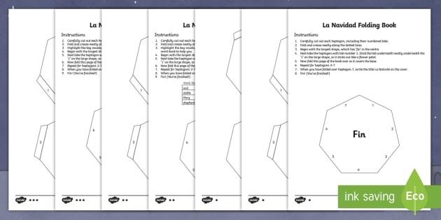 The Nativity Folding Book Activity Sheet Spanish -  The Nativity Folding Book  Activity Sheet,Spanish,Spanish, worksheet, navidad