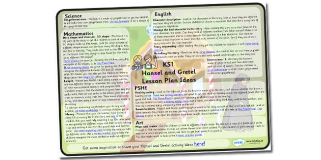 Hansel and Gretel Lesson Plan Ideas KS1 - hansel, gretel, lesson, plan, lesson plan, ideas, lesson ideas, KS1 lesson plan, KS1, hansel and gretel lesson