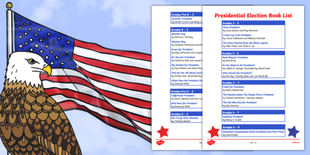 USA Presidential Election Book List