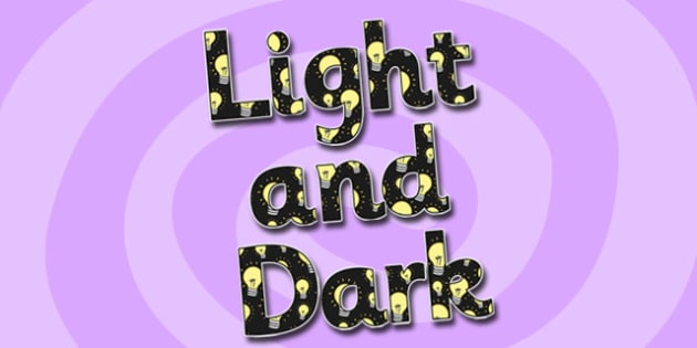 Light and Dark Display Lettering - light and dark, display lettering, light and dark display lettering, light display lettering, dark display letters