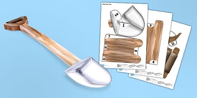 Shovel Paper Model - models, crafts, activities, minecraft
