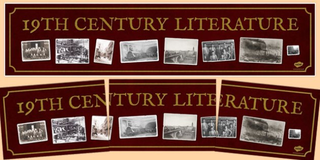 19th Century Literature Display Banner - 19th century, literature, display banner, display