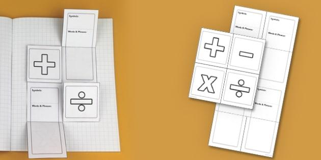 Maths Symbols Interactive Visual Aid - numeracy, maths activities