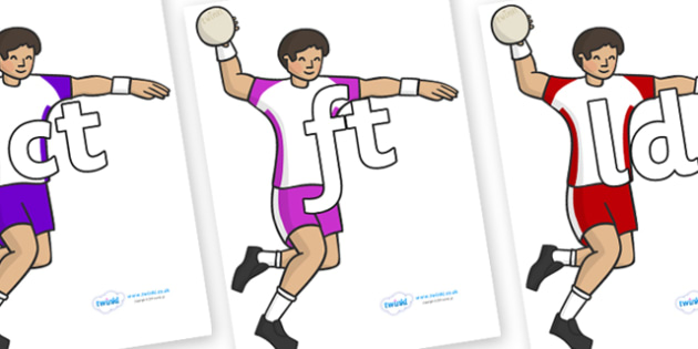 Final Letter Blends on Handball - Final Letters, final letter, letter blend, letter blends, consonant, consonants, digraph, trigraph, literacy, alphabet, letters, foundation stage literacy