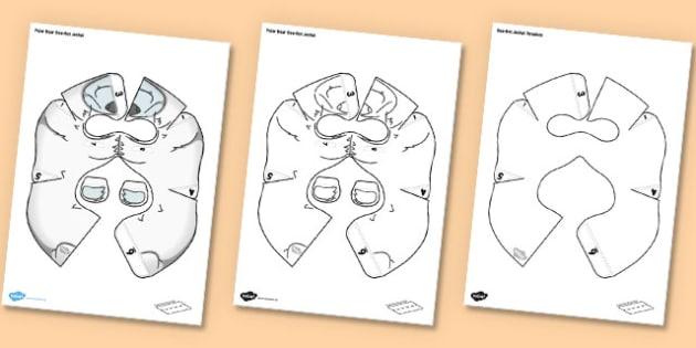 Polar Bear Bee Bot Jacket - Arctic, animals, Polar, ice, snow, programmable toy