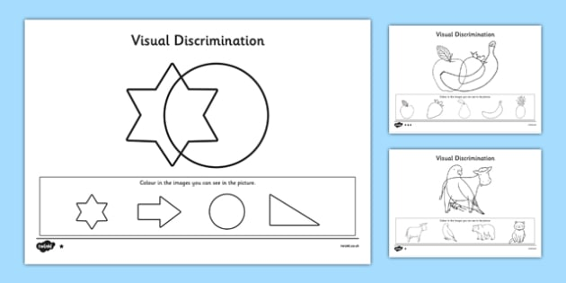 Visual Discrimination Activity Sheet Pack Find the Overlapping Pictures - visual perception, visual, discrimination, overlapping, pictures, activity, worksheet