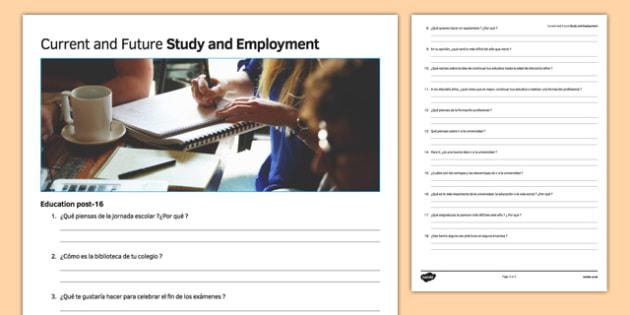 General Conversation Education Post 16 Question List