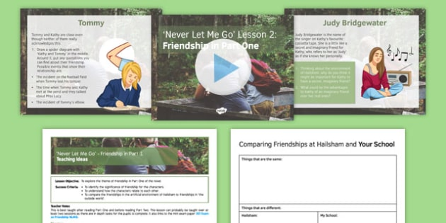 Never Let Me Go Lesson Pack 2: Friendship in Part 1 - Friendship, Kathy, Ruth, Tommy, Hailsham, Judy Bridgewater