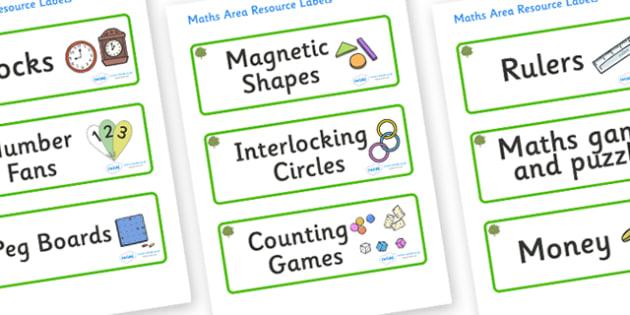 Walnut Tree Themed Editable Maths Area Resource Labels - Themed maths resource labels, maths area resources, Label template, Resource Label, Name Labels, Editable Labels, Drawer Labels, KS1 Labels, Foundation Labels, Foundation Stage Labels, Teaching