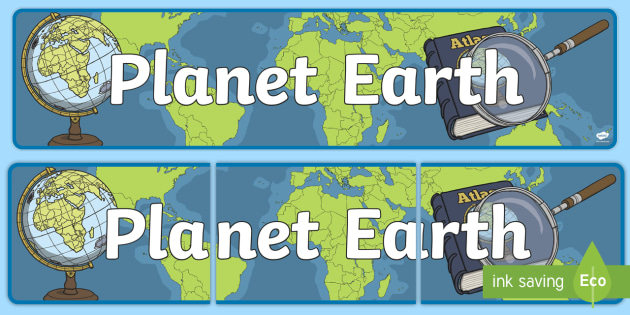 Planet Earth Display Banner CfE - display, banner, cfe, earth