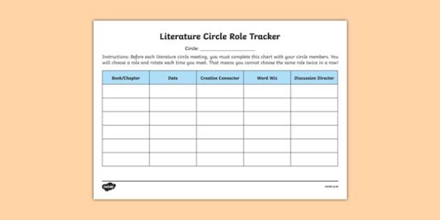 Literature Circle Role Tracker