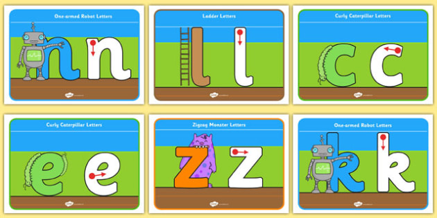 Letter Formation Posters - Sky, Grass, Ground - letter, formation