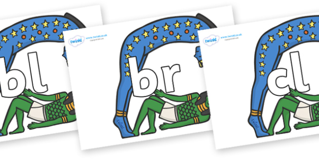 Initial Letter Blends on Egyptian Characters - Initial Letters, initial letter, letter blend, letter blends, consonant, consonants, digraph, trigraph, literacy, alphabet, letters, foundation stage literacy
