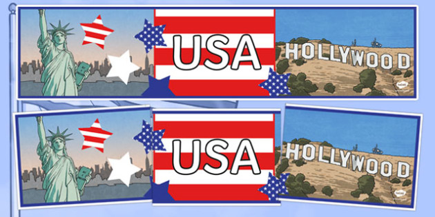 USA Display Banner - United States of America, USA, U.S.A., display, banner, sign, posters, America, North America, American