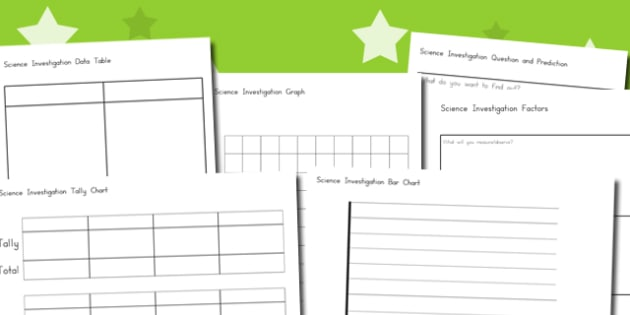 Science Investigation Worksheets - australia, science, investigation
