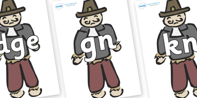 Silent Letters on Guy Fawkes - Silent Letters, silent letter, letter blend, consonant, consonants, digraph, trigraph, A-Z letters, literacy, alphabet, letters, alternative sounds