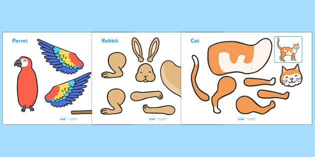 Split Pin (Pets) - split pin, pets, cat, dog, hamster, rabbit, guinea pig, split pin, split, pin, moving, puppet, character