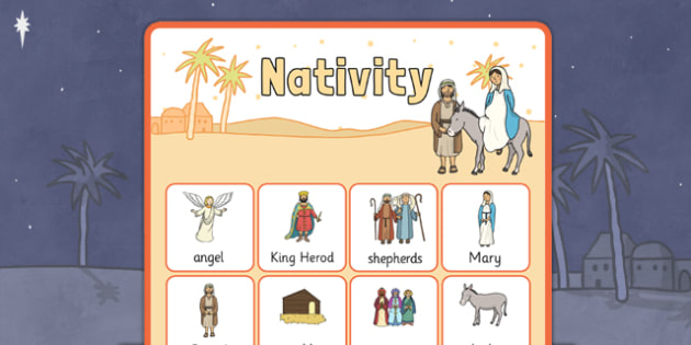 Nativity Vocabulary Poster - nativity, display posters, themed posters, images, pictures, key words, nativity vocabulary, vocabulary, vocabulary poster