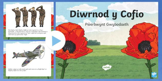 Pŵerbwynt Gwybodaeth Dydd y Cofio