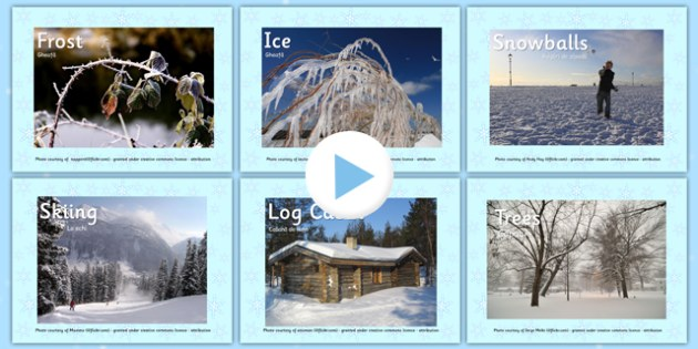 Winter Photo PowerPoint EAL Romanian Translation - romanian, eal