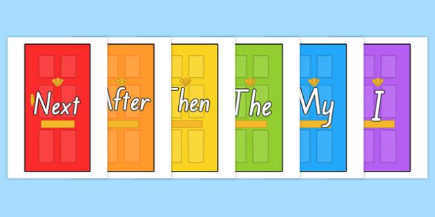 Sentence Starters on Doors