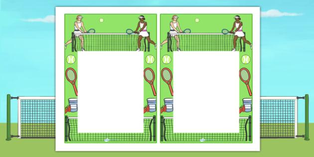 Wimbledon Themed Notes Editable - sports, sport, praise notes