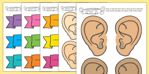 Sound Walk Ear Head Bands - listening, head bands, listening head bands, ears, walk, listen, ear head band, walk head band, listening ear head band