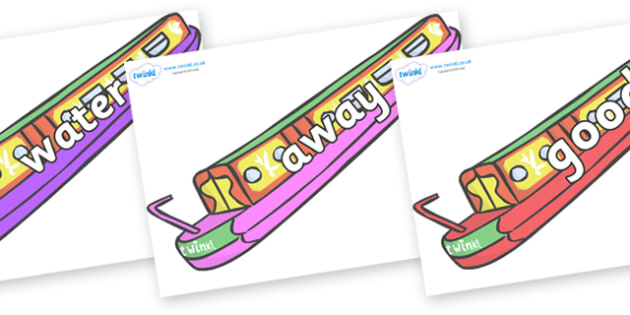 Next 200 Common Words on Narrow Boats - Next 200 Common Words on  - DfES Letters and Sounds, Letters and Sounds, Letters and sounds words, Common words, 200 common words