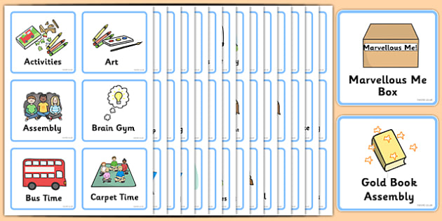 Visual Timetable Early Level - Visual Timetable, Sen, Daily