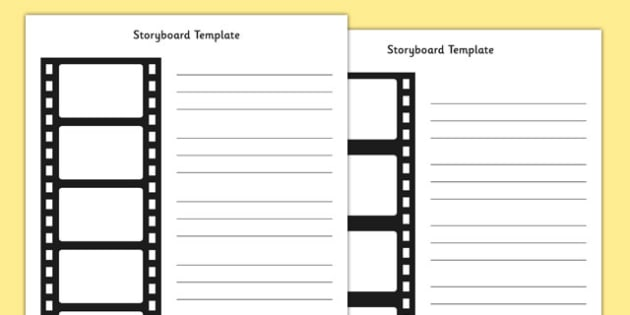 Film Strip Storyboard Template - Filmstrip, Storyboard