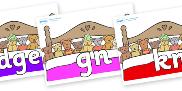 Silent Letters on Ten in a Bed - Silent Letters, silent letter, letter blend, consonant, consonants, digraph, trigraph, A-Z letters, literacy, alphabet, letters, alternative sounds