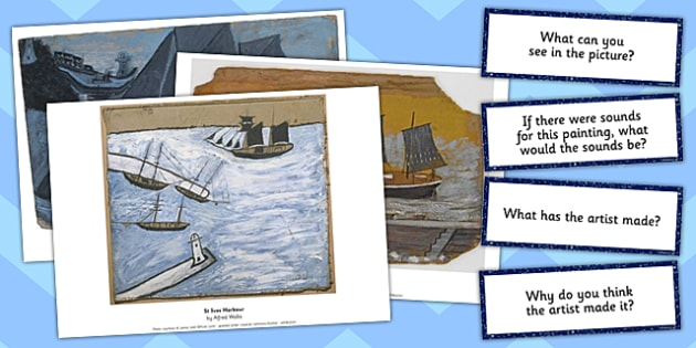 Alfred Wallis Photo Pack and Prompt Questions - alfred, wallis