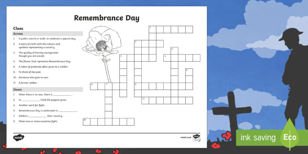 Remembrance Day Crossword