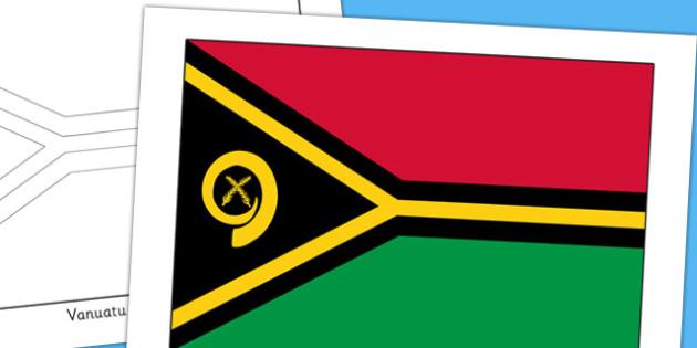Vanuatu Flag Display Poster - countries, geography, display