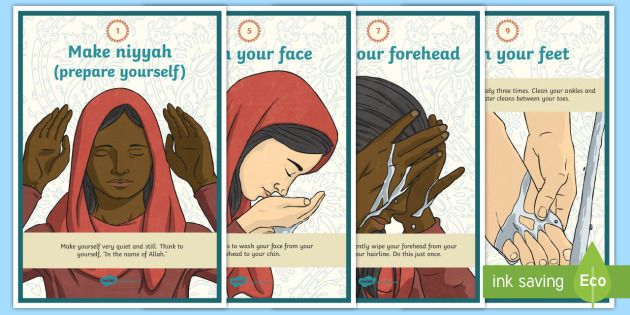 How to Perform Wudu Display Facts Poster