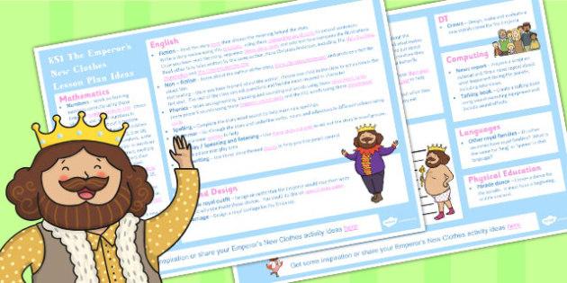 The Emperors New Clothes KS1 Lesson Plan Ideas - lesson plan, ks1