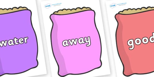 Next 200 Common Words on Bags - Next 200 Common Words on  - DfES Letters and Sounds, Letters and Sounds, Letters and sounds words, Common words, 200 common words