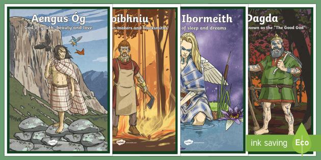 Irish Celtic Gods Display Posters-Irish