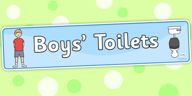 Toilet Area Sign - Classroom Area Signs, KS1, Banner, toilet, toilets, boys, girls, Foundation Stage Area Signs, Classroom labels, Area labels, Area Signs, Classroom Areas, Poster, Display, Areas