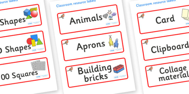 Robin Themed Editable Classroom Resource Labels - Themed Label template, Resource Label, Name Labels, Editable Labels, Drawer Labels, KS1 Labels, Foundation Labels, Foundation Stage Labels, Teaching Labels, Resource Labels, Tray Labels, Printable lab