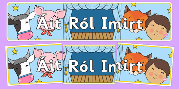 Role Play Area Sign - gaeilge, roi, role play, area sign, roleplay, area, sign