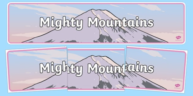 Mighty Mountains Display Banner