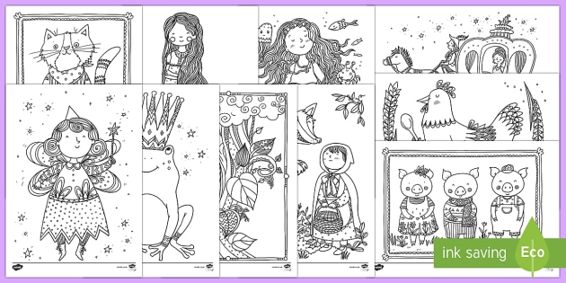 Traditional Tales Themed Mindfulness Colouring Pages