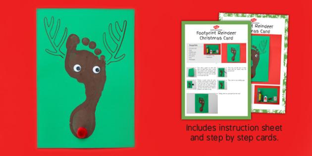 Footprint Reindeer Craft Instructions - footprint, reindeer, craft, instructions